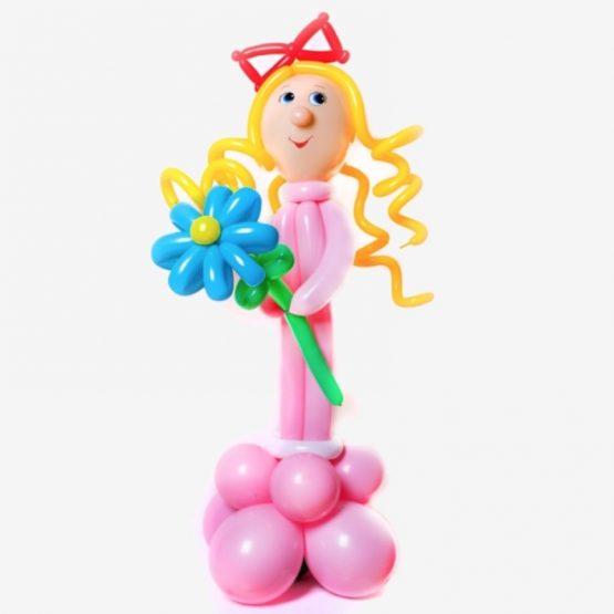 Фигура из шаров Девочка с цветами из Воздушных шаров