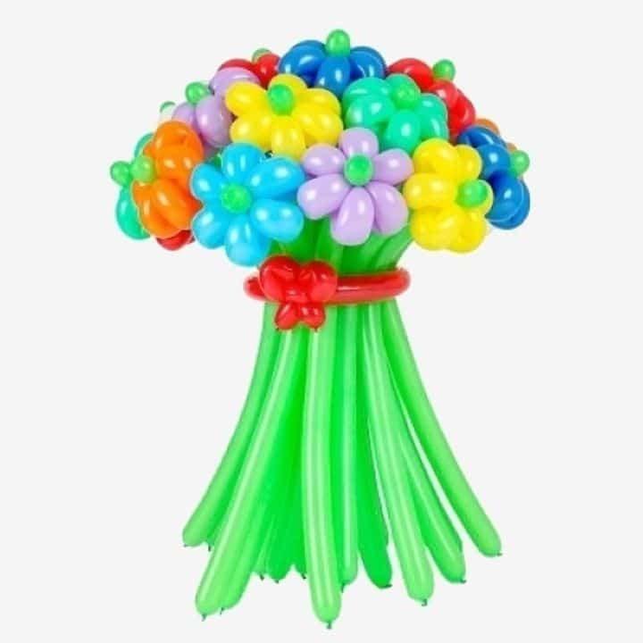 Букет из шаров в виде ромашек