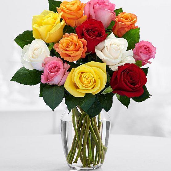 11 Разноцветных Роз