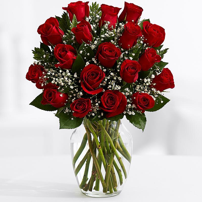 19 Длинных Красных Роз