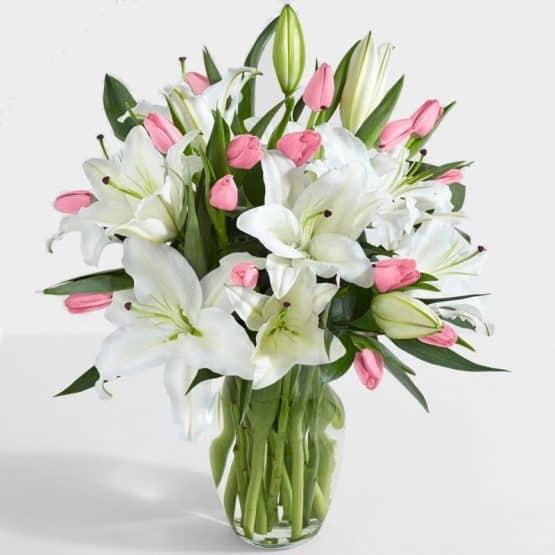 Делюкс тюльпаны и лилии