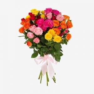 20200211 Букет кустовых роз 11 шт.