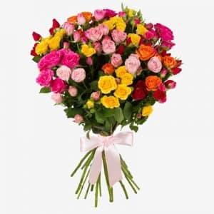 20200221 Букет кустовых роз 21 шт.