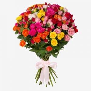 20200235 Букет кустовых роз 35 шт.